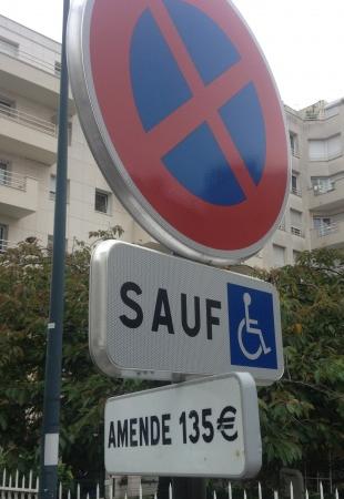 stationnement interdit, handicapés, parking