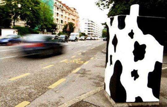 Radar aux couleurs d'une vache