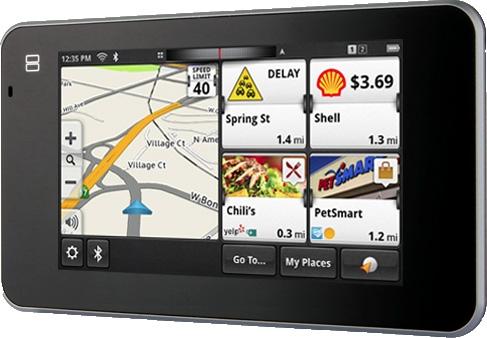 GPS côté gauche, à droite les bons plans ou services alentours