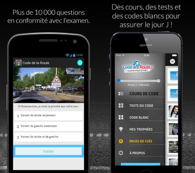 Téléchargez l'application code de la route sur votre smartphone