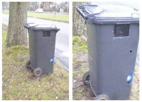 Au Canada, le radar à été placé dans une poubelle