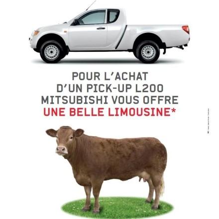 Pour l'achat d'un Pick-up L200, Mitsubishi vous offre une belle limousine